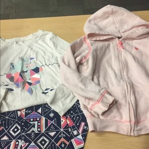 3 PIECES LOT OUTFIT & JACKET SZ 4/5 very cute
